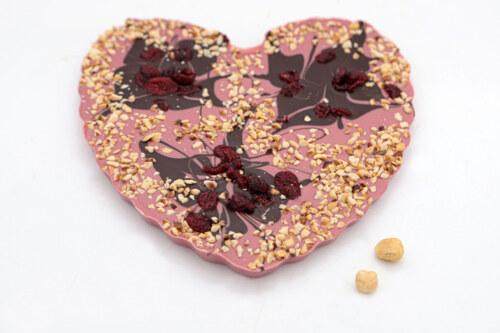 Ruby srce s brusnicama i lješnjacima 300g